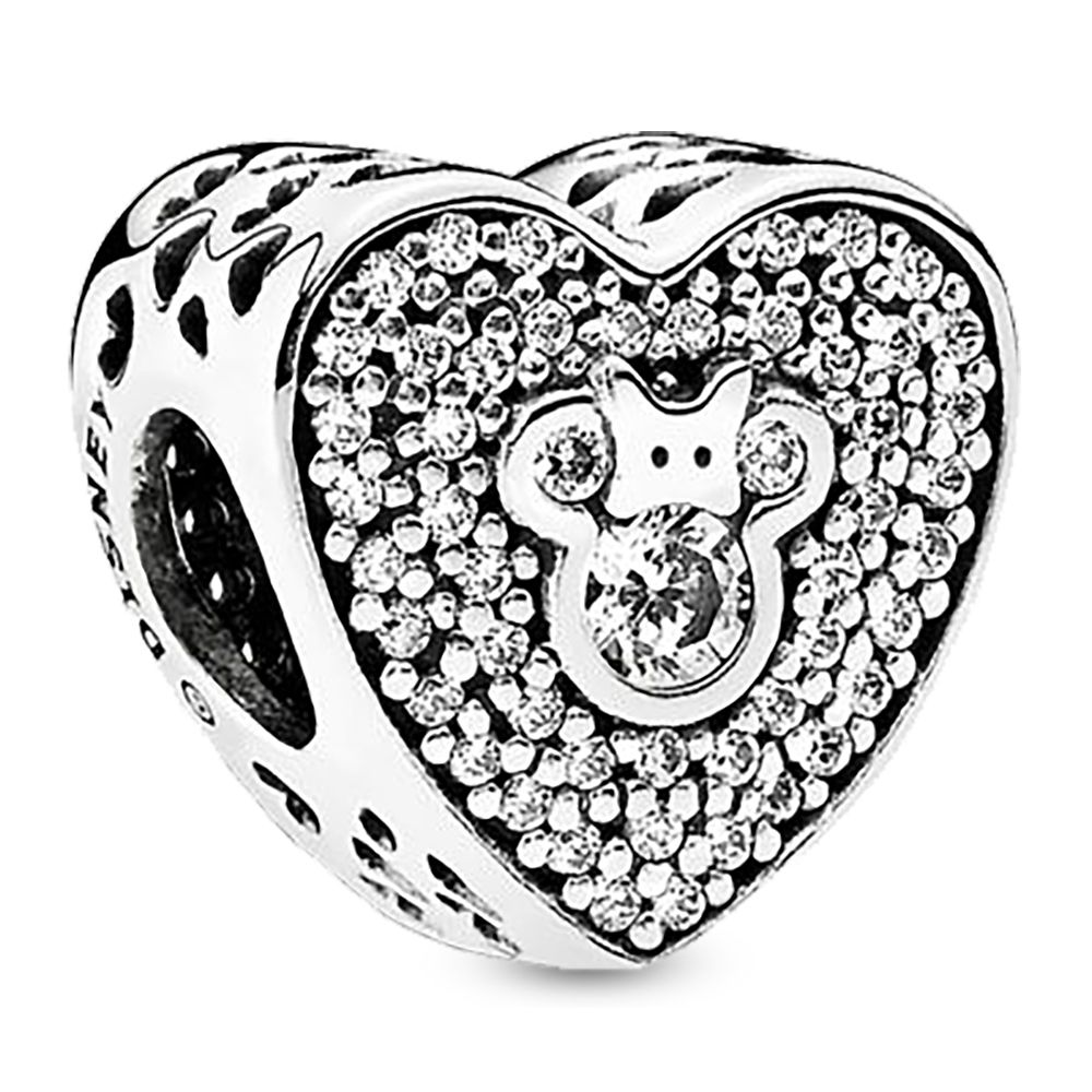 Mickey and Minnie Mouse Heart Charm by Pandora Jewelry