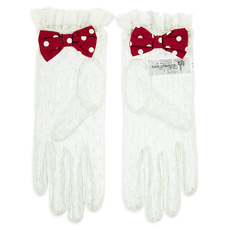 Minnie Mouse Lace Gloves for Women - Small/Medium