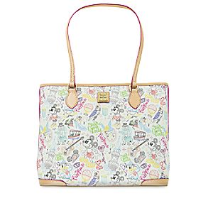 "Mickey and Minnie Mouse ""A Walk in the Park"" Tote by Dooney & Bourke"