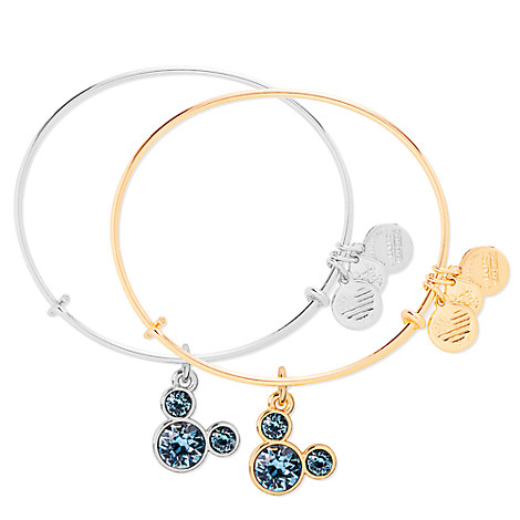 Mickey Mouse Birthstone Bangle by Alex and Ani - March