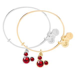 Mickey Mouse Birthstone Bangle by Alex and Ani – July