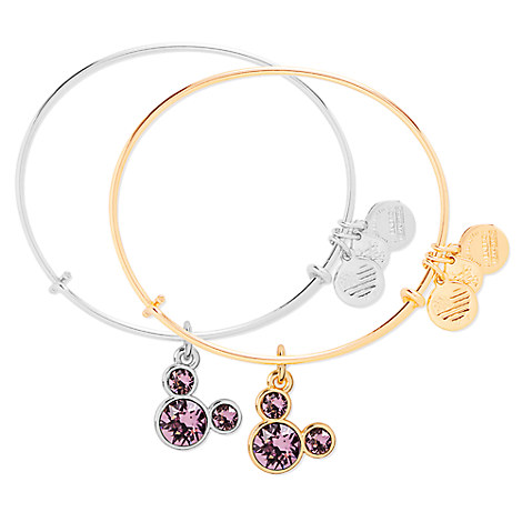 Mickey Mouse Birthstone Bangle by Alex and Ani - June
