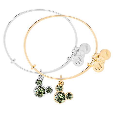 Mickey Mouse Birthstone Bangle by Alex and Ani - August