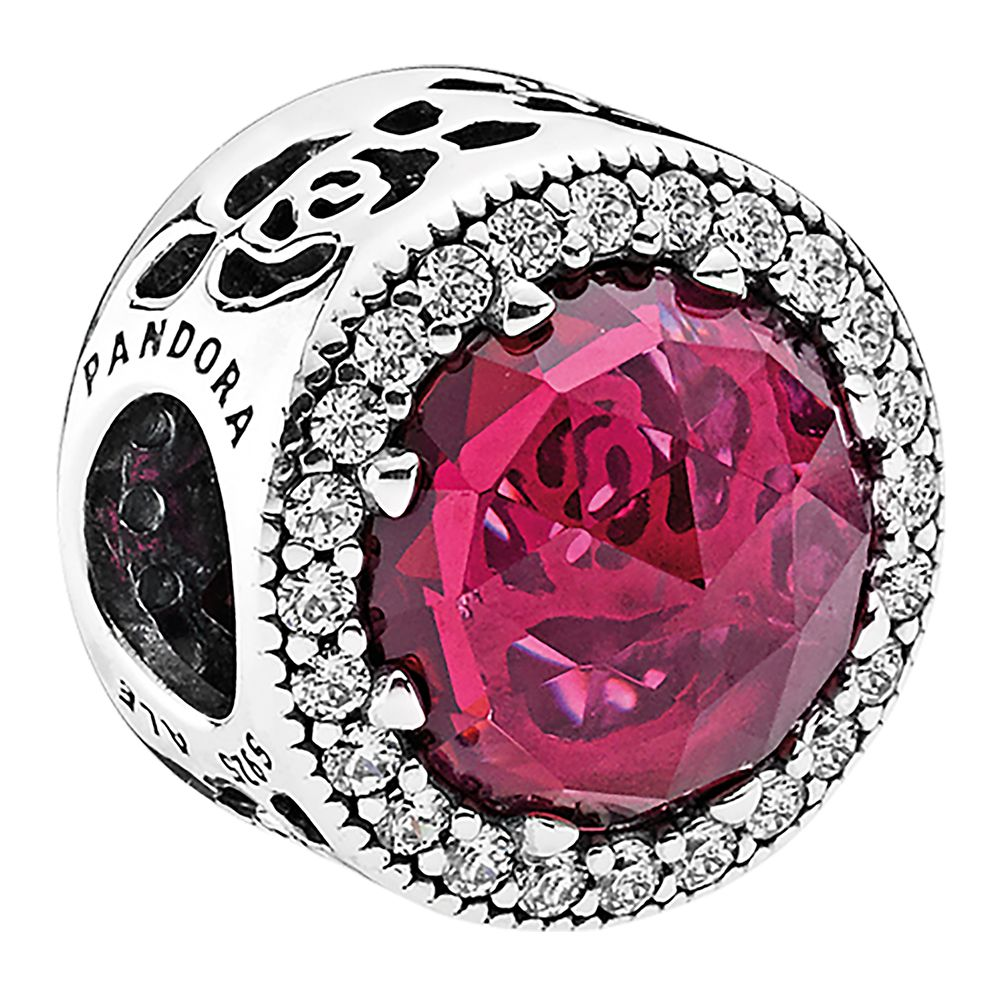Belle Enchanted Rose Sparkling Charm by Pandora Jewelry