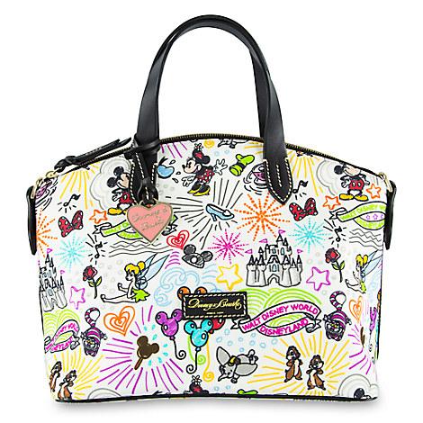 Disney Sketch Nylon Zip Satchel by Dooney & Bourke
