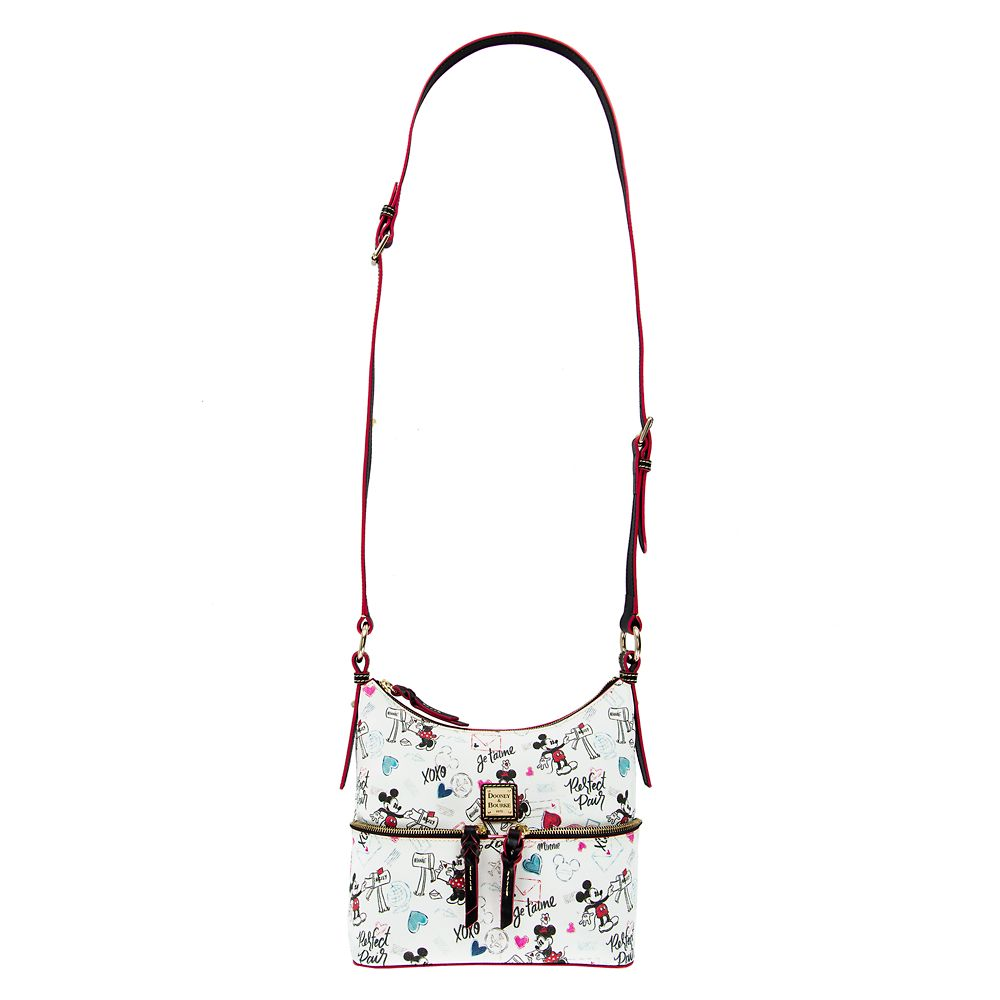 Mickey and Minnie Mouse Sweethearts Pocket Sac Shoulder Bag by Dooney & Bourke