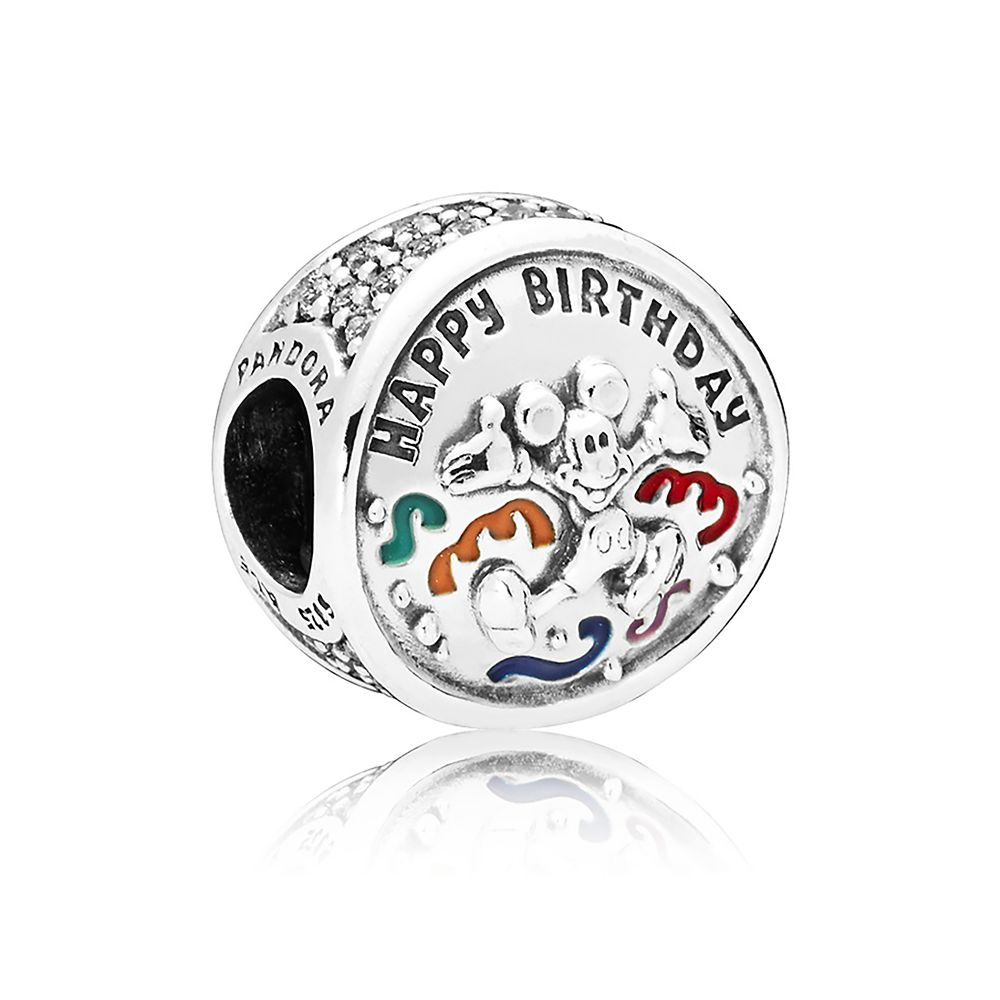 Mickey Mouse Happy Birthday Charm by Pandora Jewelry