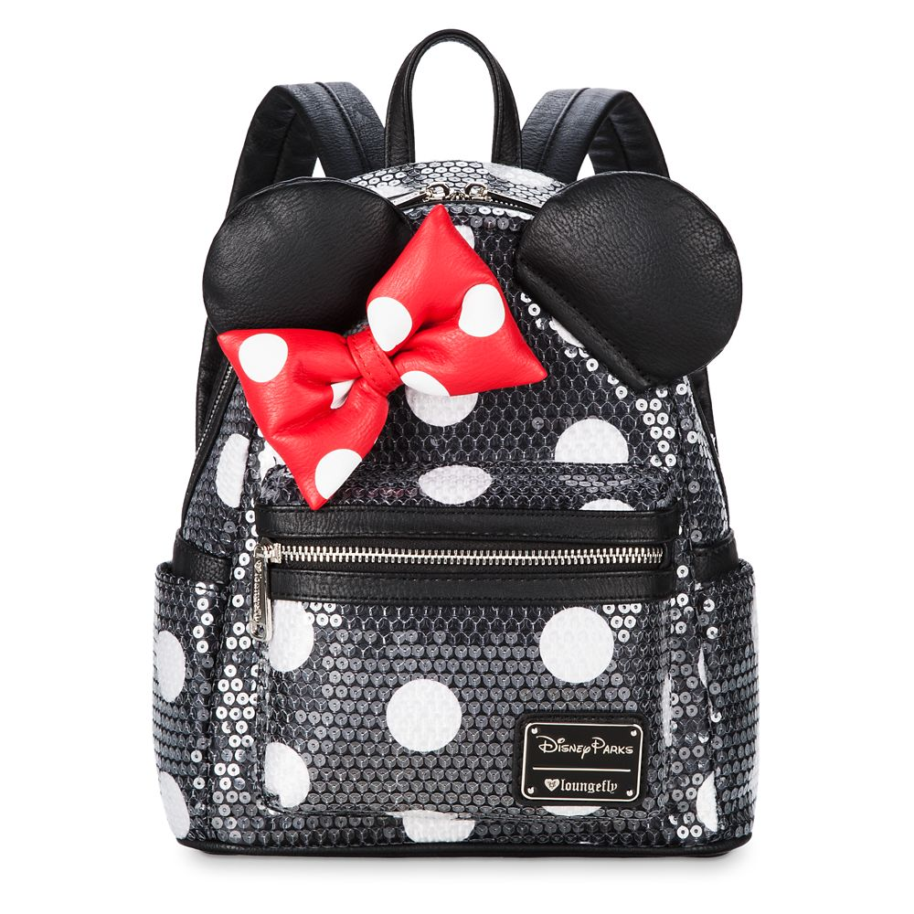 Minnie Mouse Sequined Mini Backpack by Loungefly