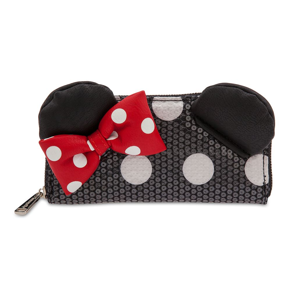 Minnie Mouse Sequined Wallet by Loungefly