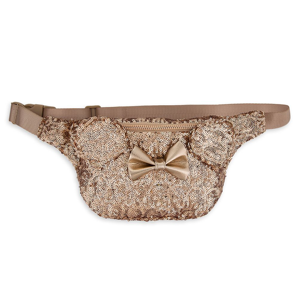 Minnie Mouse Sequined Hip Pack by Loungefly – Rose Gold