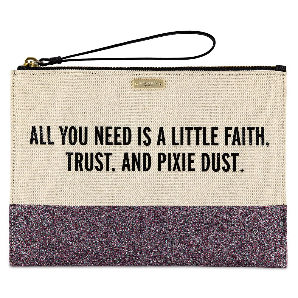 Peter Pan Canvas Glitter Clutch by kate spade new york