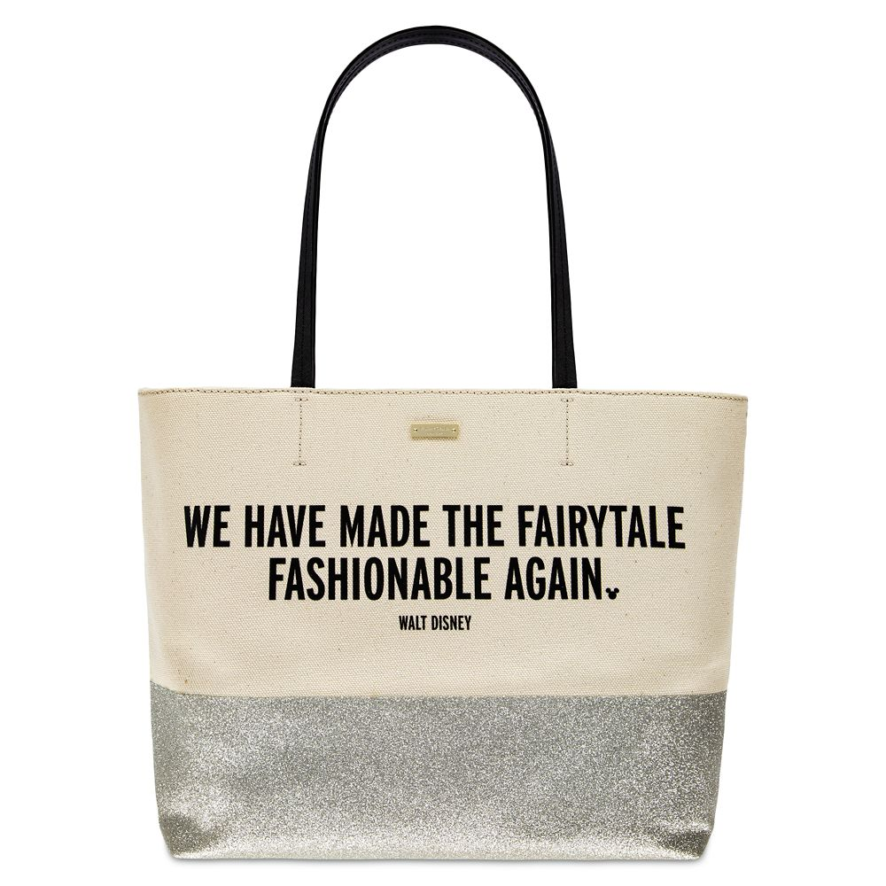 ''We Have Made the Fairytale Fashionable Again'' Canvas Glitter Tote by kate spade new york