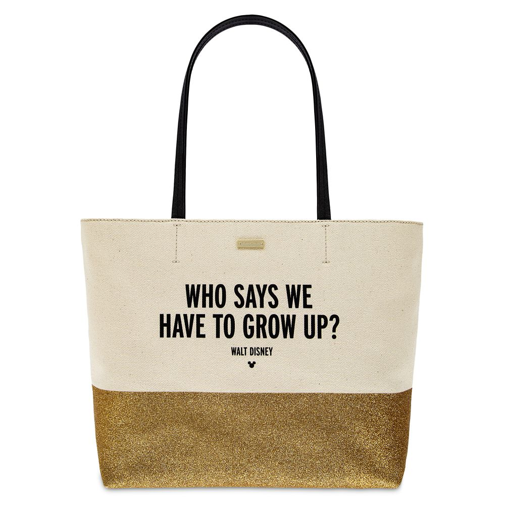 ''Who Says We Have to Grow Up?'' Canvas Glitter Tote by kate spade new york