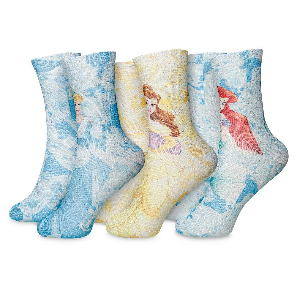 Disney Princess Socks for Kids – 3-Pack