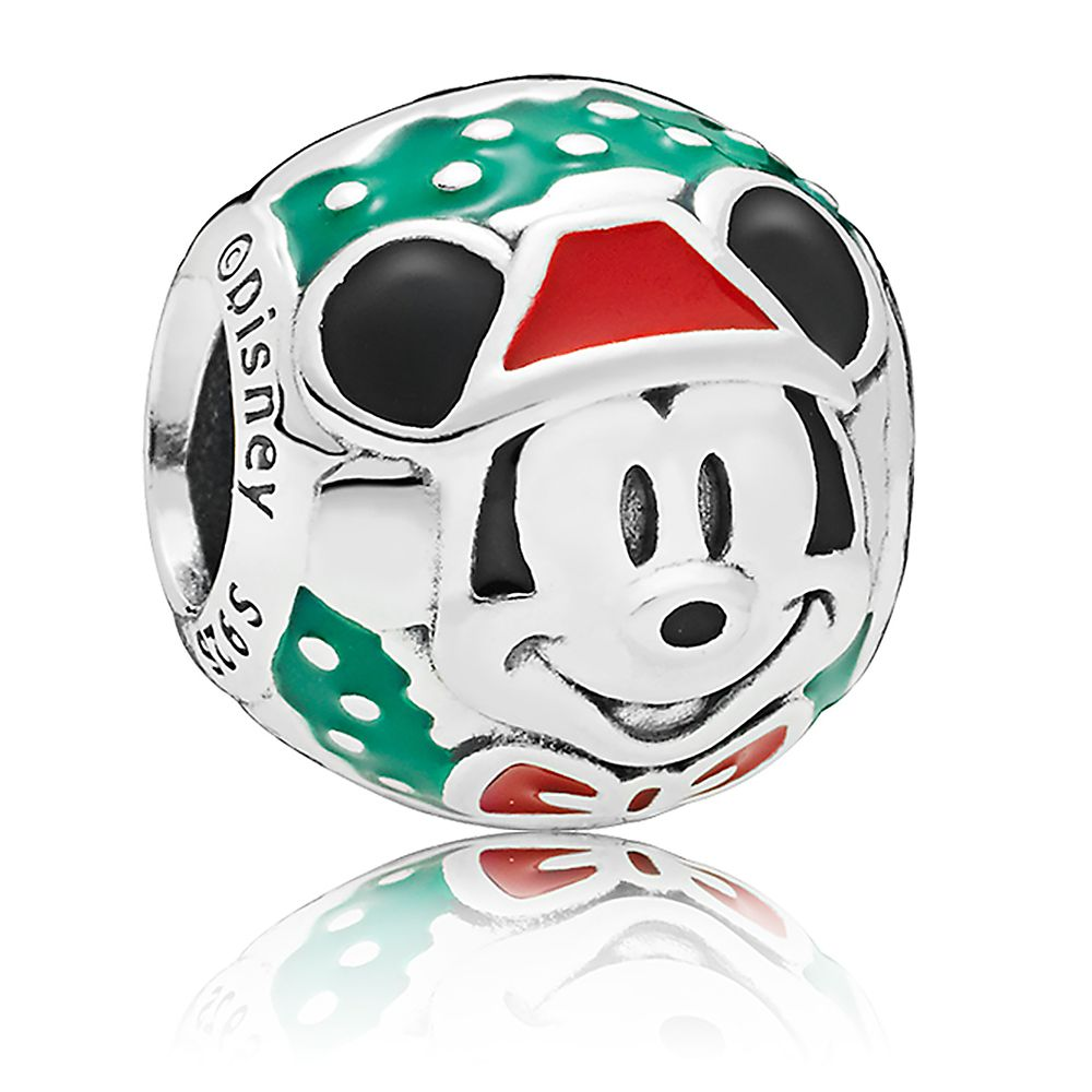 Santa Mickey Mouse Bead Charm by Pandora Jewelry