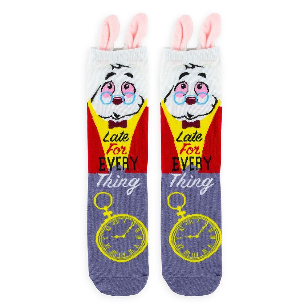 White Rabbit Socks for Adults – Alice in Wonderland