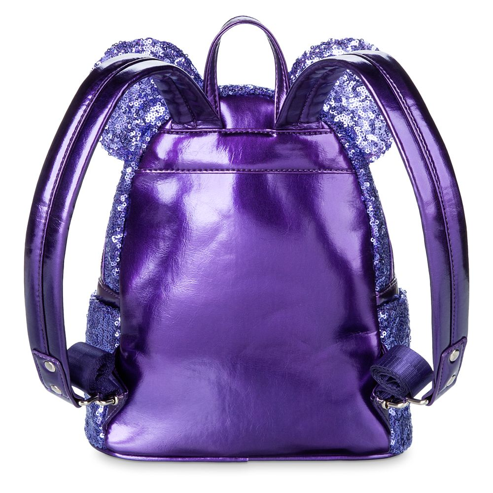 Mickey Mouse Potion Purple Sequined Mini Backpack by Loungefly
