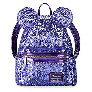 Minnie Mouse Potion Purple Sequined Mini Backpack by Loungefly