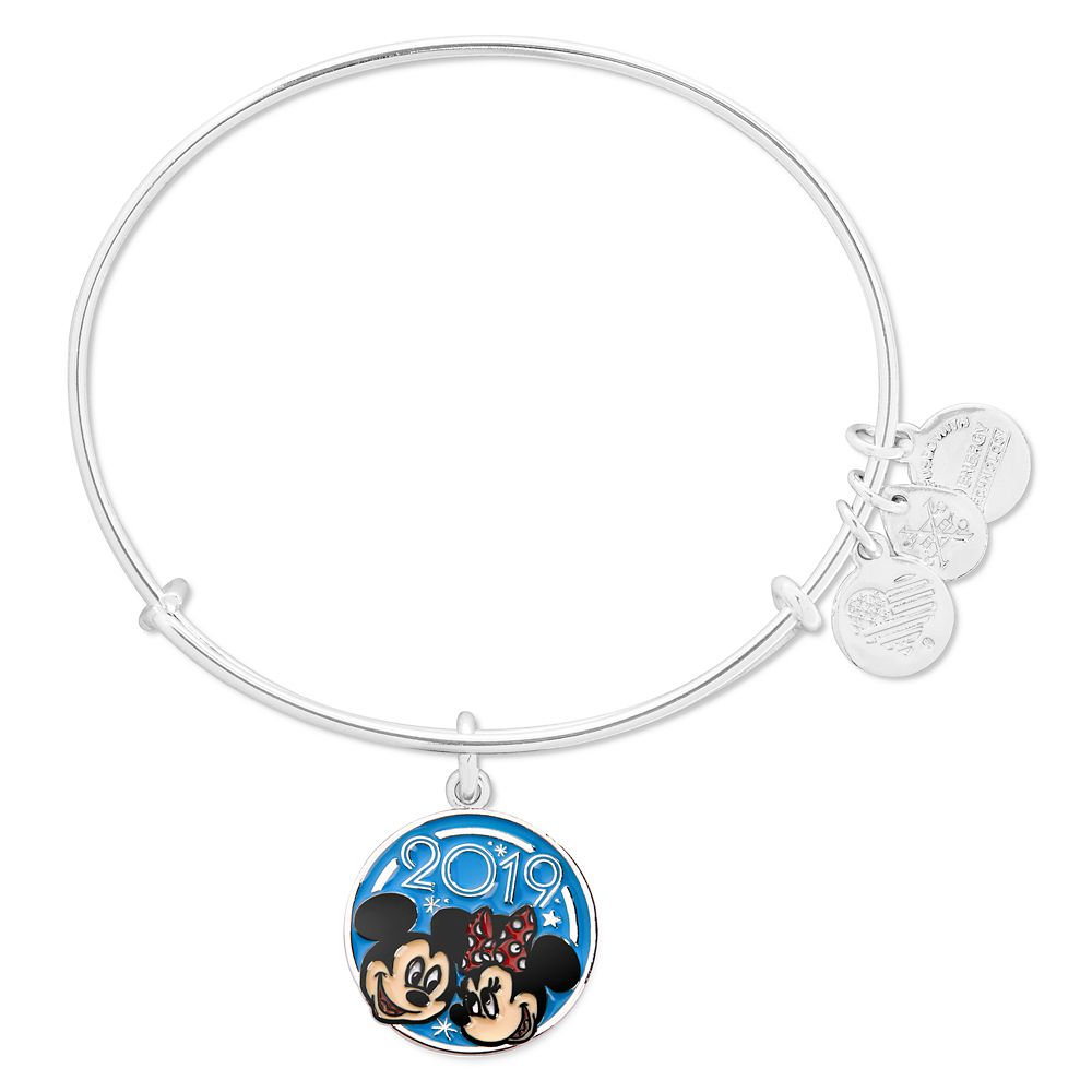 Mickey and Minnie Mouse Bangle by Alex and Ani  Disney Parks 2019