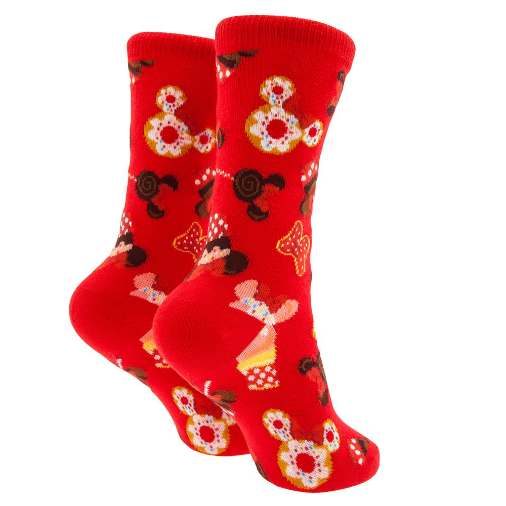 Minnie Mouse Disney Parks Food Icon Cupcake Socks for Kids
