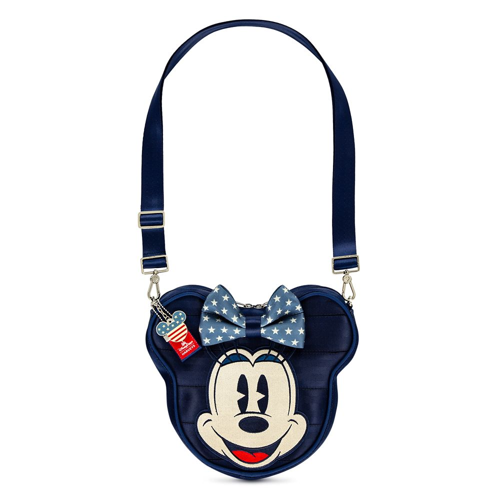 0e0eb106be67 Mickey and Minnie Mouse Americana Crossbody Bag by Harveys