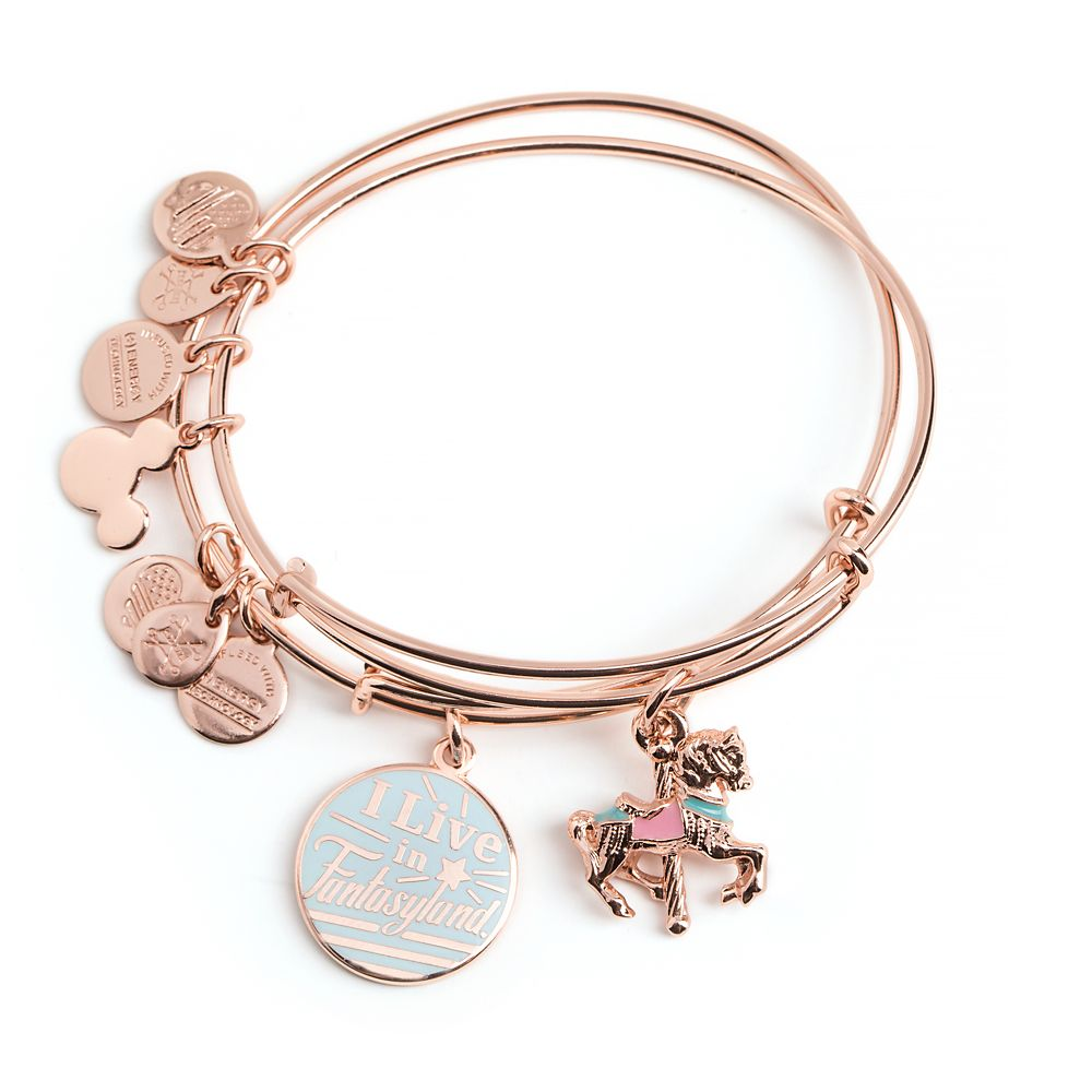 ''I Live in Fantasyland'' Bangle Set by Alex and Ani