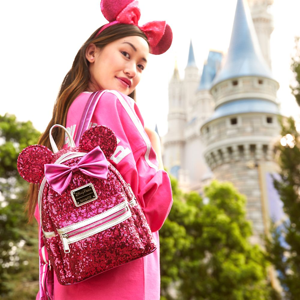 Minnie Mouse Sequin Mini Backpack by Loungefly – Imagination Pink