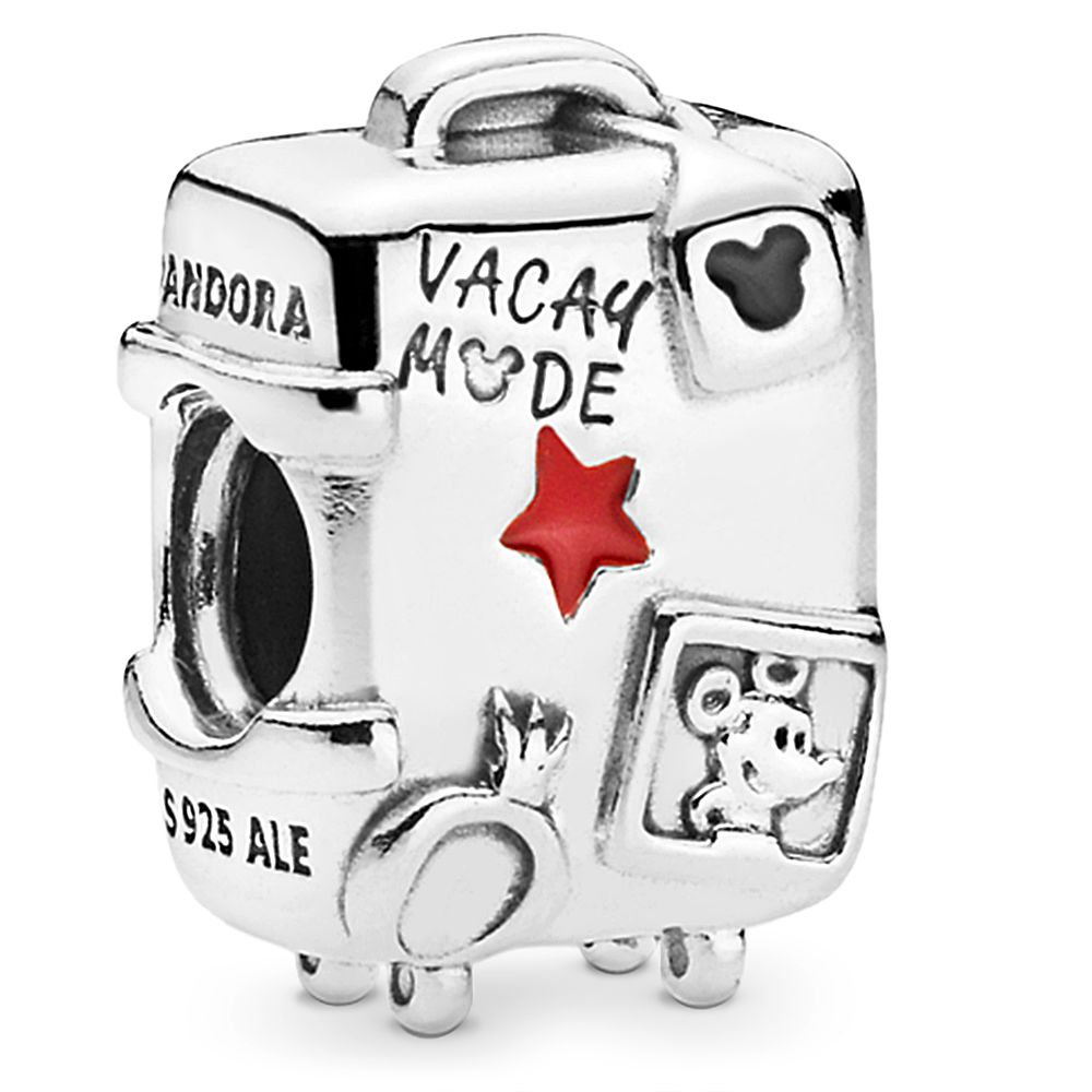 Mickey and Minnie Mouse ''Vacay Mode'' Suitcase Charm by Pandora Jewelry Official shopDisney