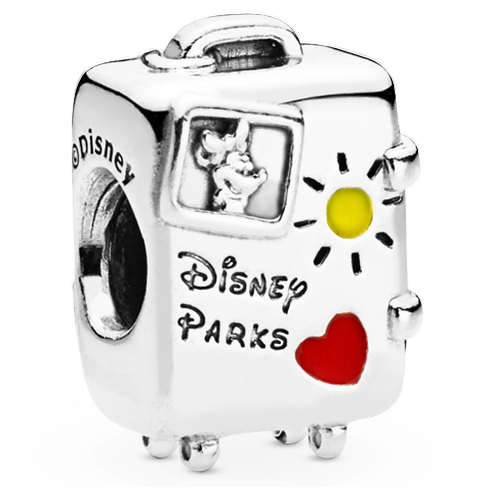Mickey and Minnie Mouse ''Vacay Mode'' Suitcase Charm by Pandora Jewelry