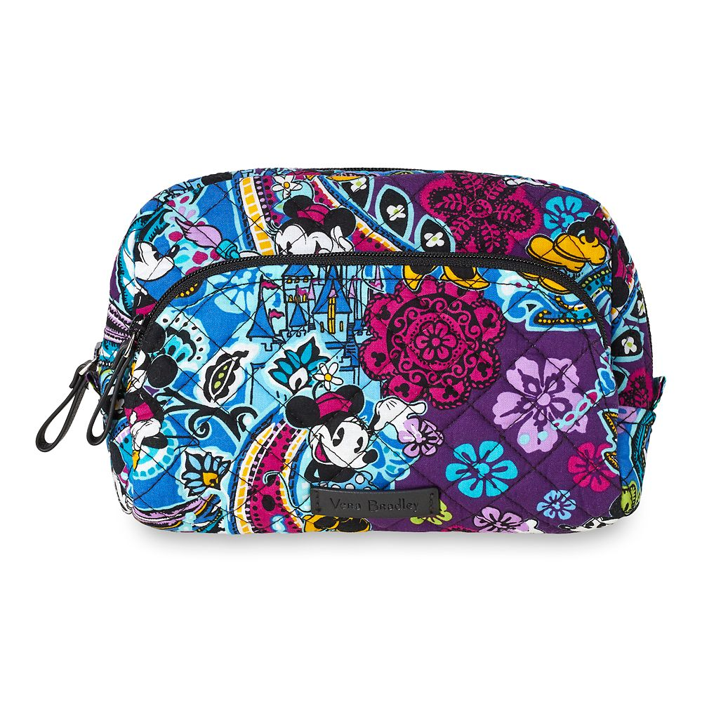 Mickey and Minnie Mouse Paisley Medium Cosmetic Bag by Vera Bradley Official shopDisney