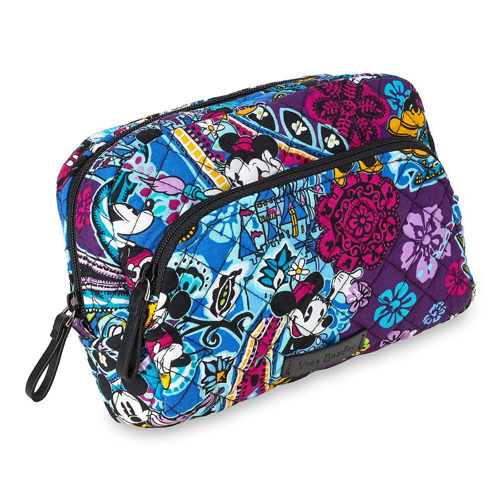Mickey And Minnie Mouse Paisley Medium Cosmetic Bag By Vera Bradley