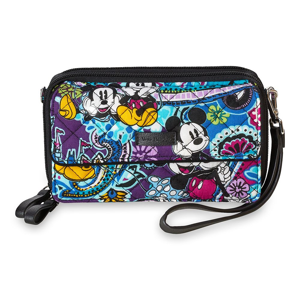 Mickey and Minnie Mouse Paisley All in One Crossbody and Wristlet by Vera Bradley