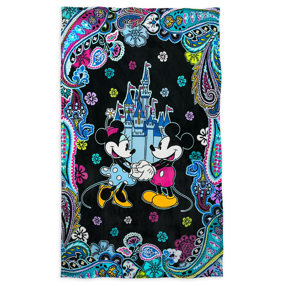 Mickey and Minnie Mouse Paisley Throw Blanket by Vera Bradley