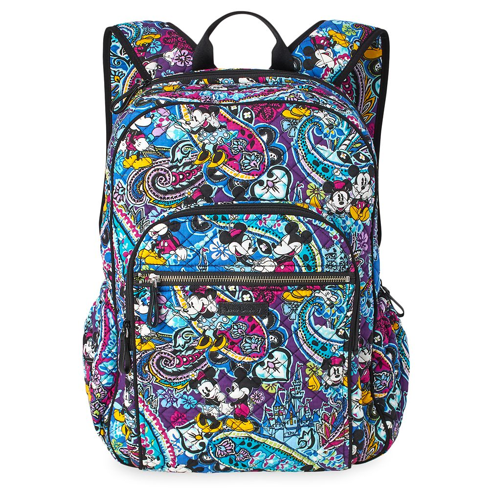 Mickey and Minnie Mouse Paisley Campus Backpack by Vera Bradley