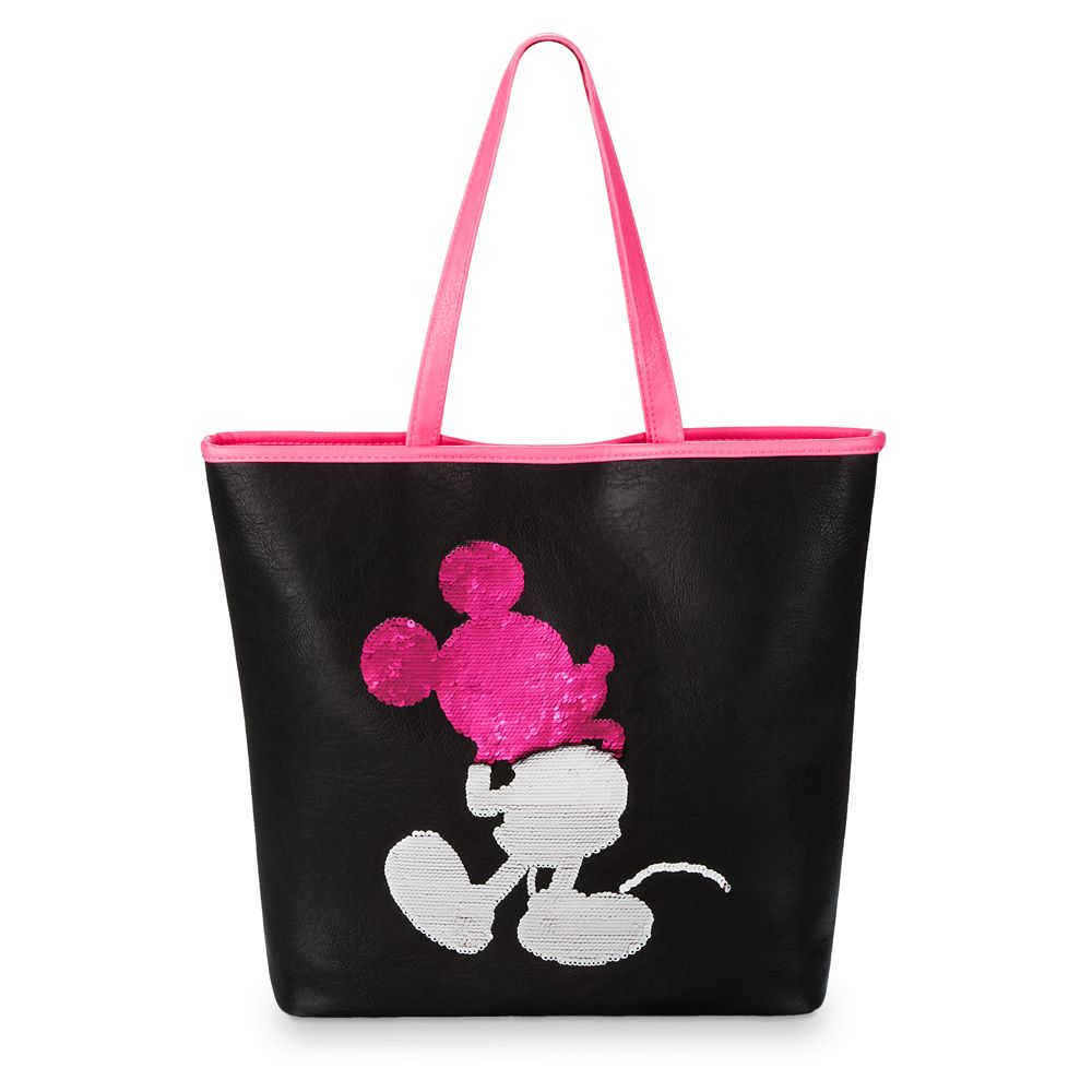 Mickey Mouse Imagination Pink Reversible Sequin Tote by Loungefly