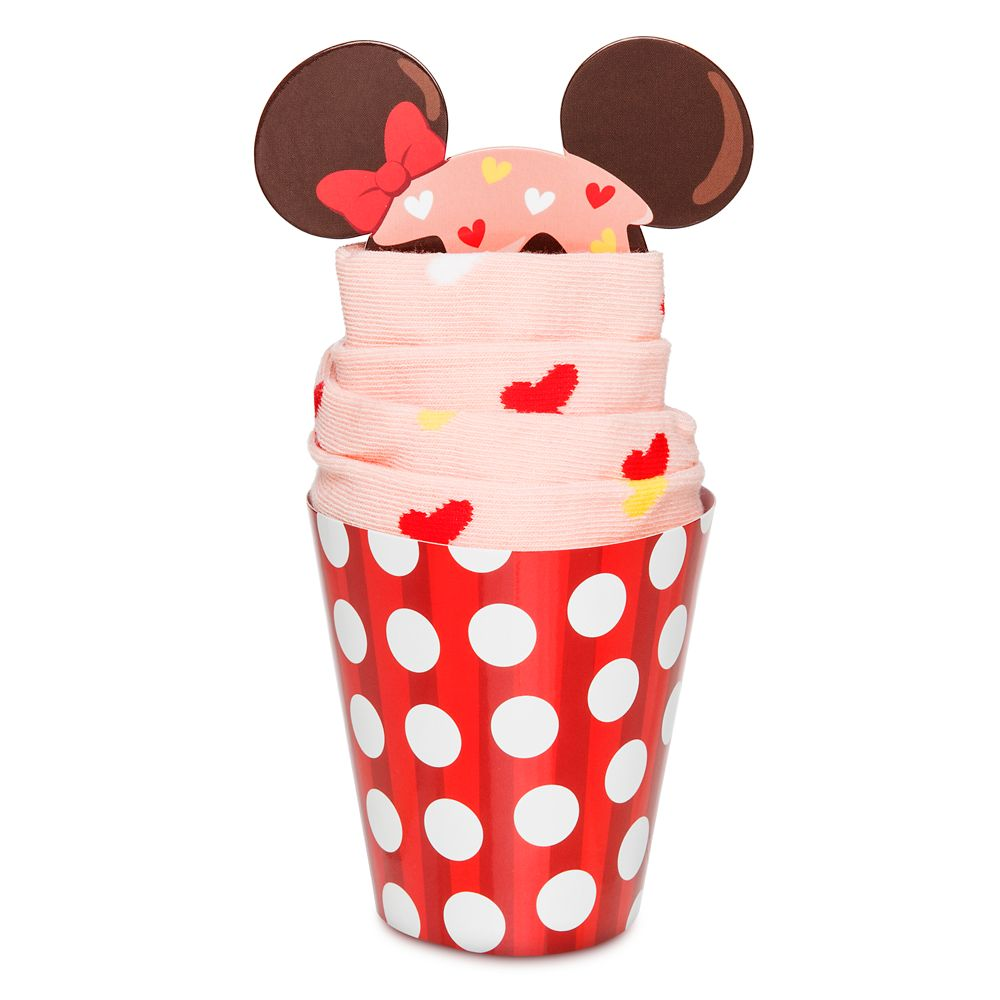Minnie Mouse Cupcake Socks for Adults