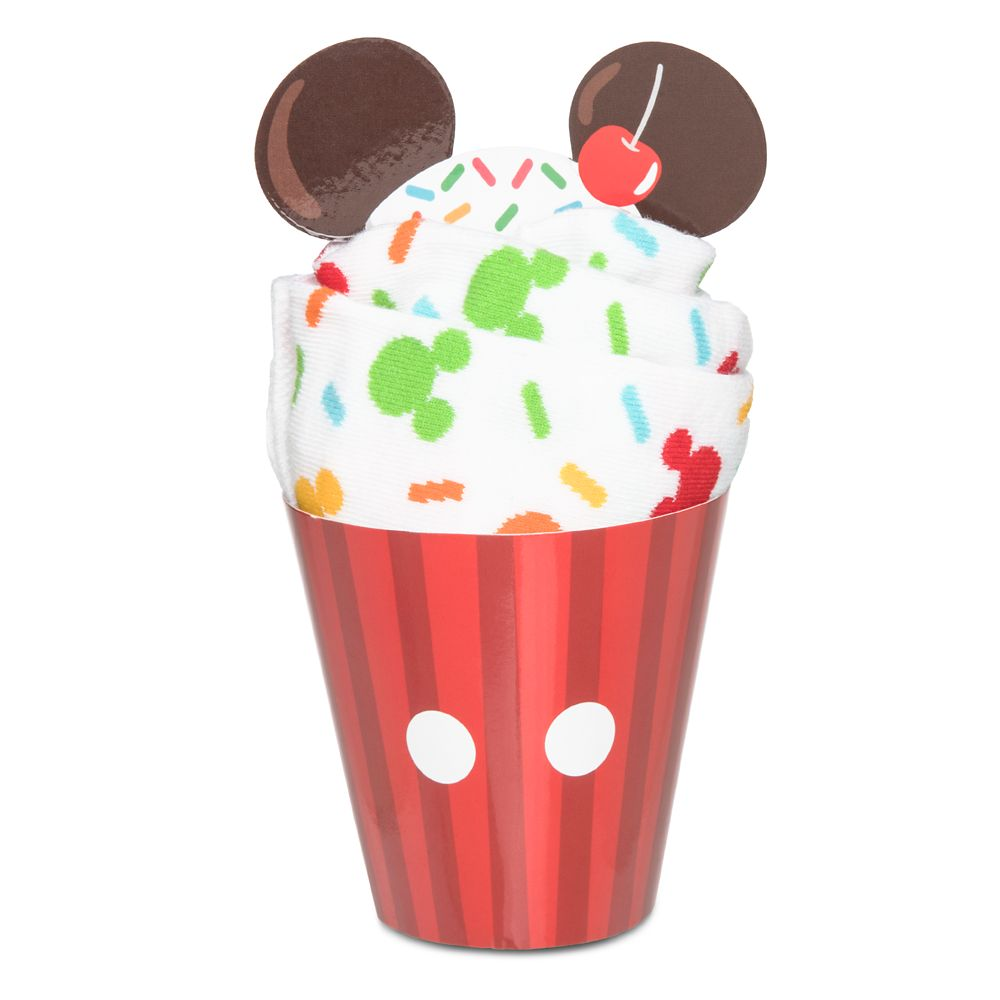 Mickey Mouse Cupcakes Socks for Adults