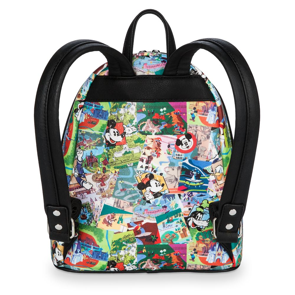 Disney Parks Collage Mini Backpack by Loungefly