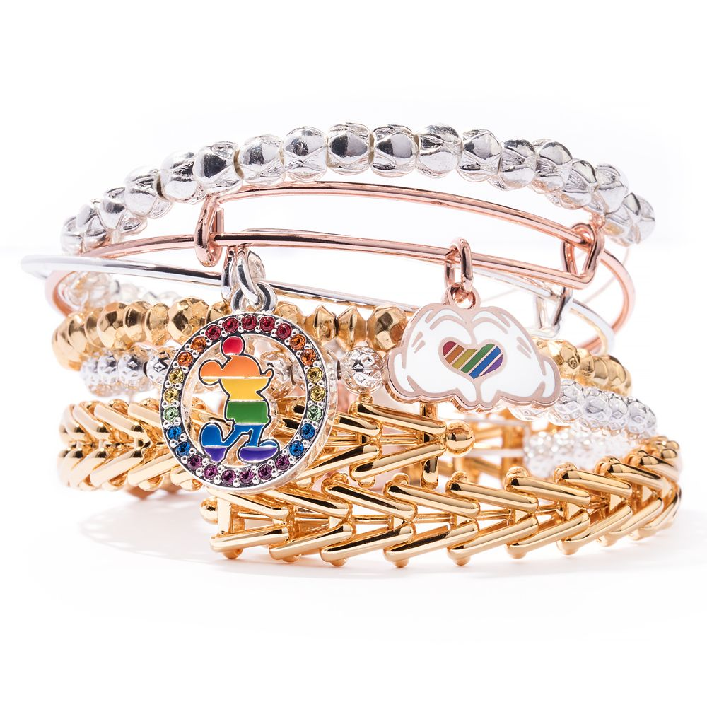 Rainbow Disney Collection Mickey Mouse Heart Bangle by Alex and Ani