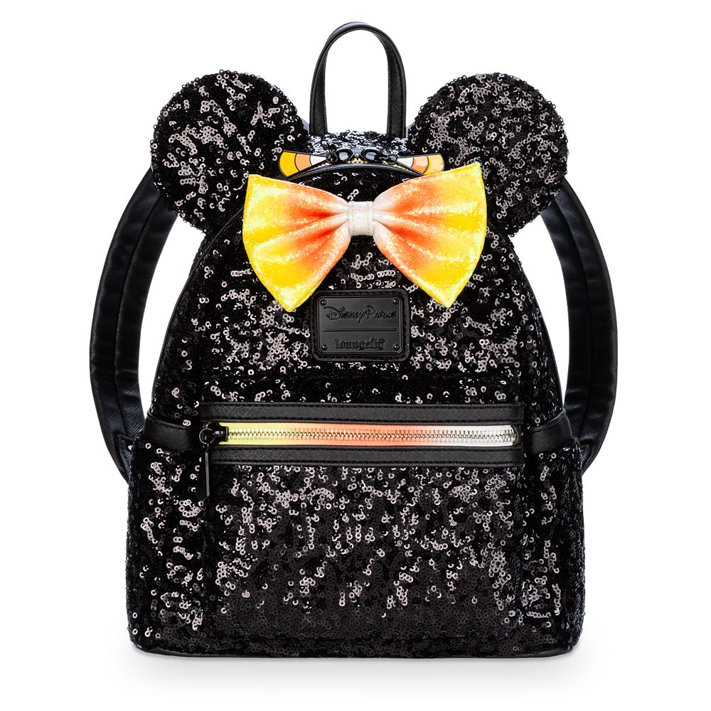 Minnie Mouse Sequin Mini Backpack by Loungefly  Candy Corn Official shopDisney Disney Halloween merchandise