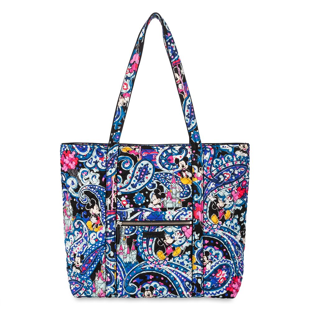 Mickey Mouse Whimsical Paisley Tote by Vera Bradley