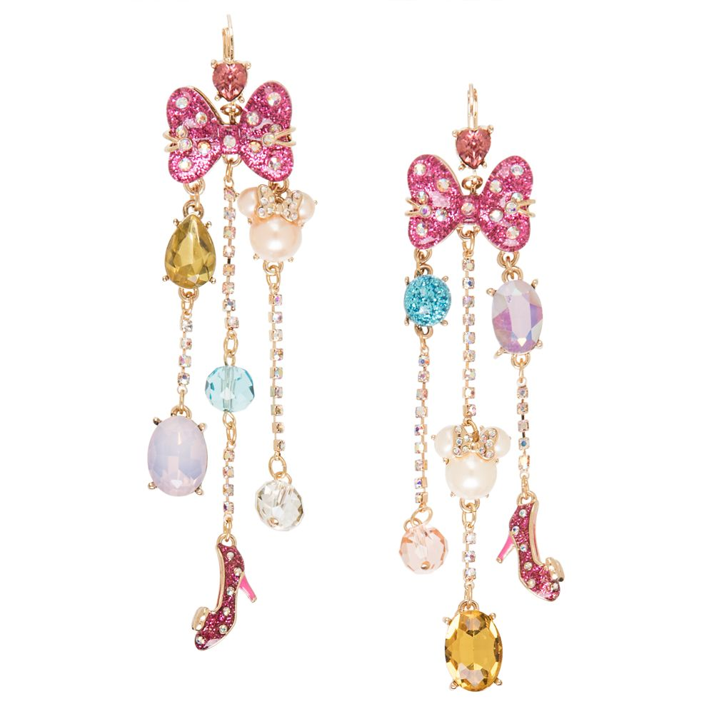 Minnie Mouse Cluster Earrings by Betsey Johnson