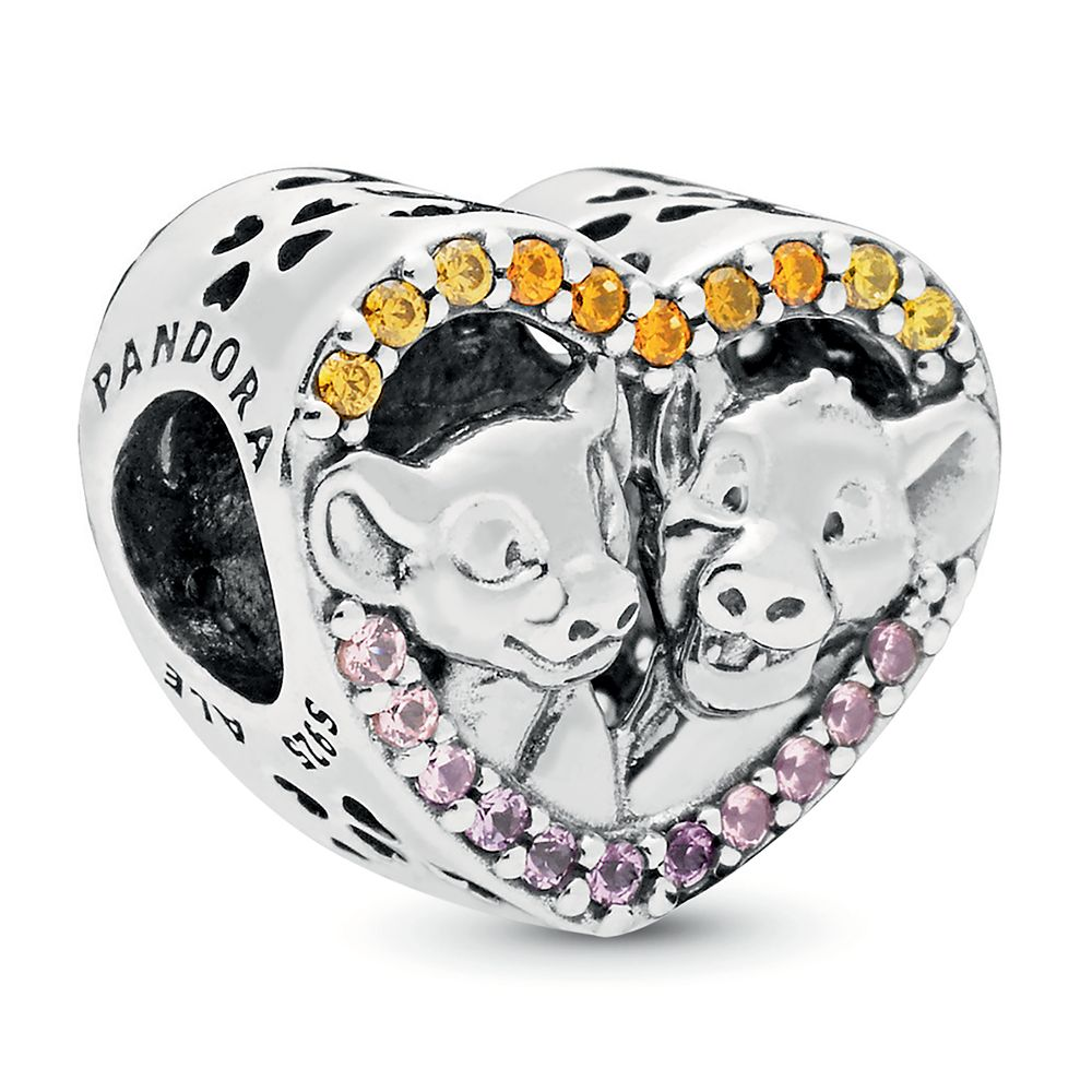 Simba and Nala Heart Charm by Pandora Jewelry