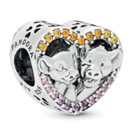 Simba and Nala Heart Charm by Pandora Jewelry