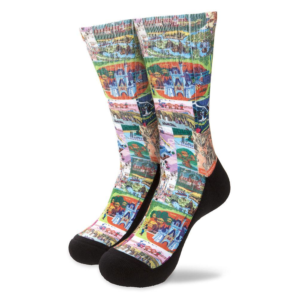Magic Kingdom Map Socks for Men