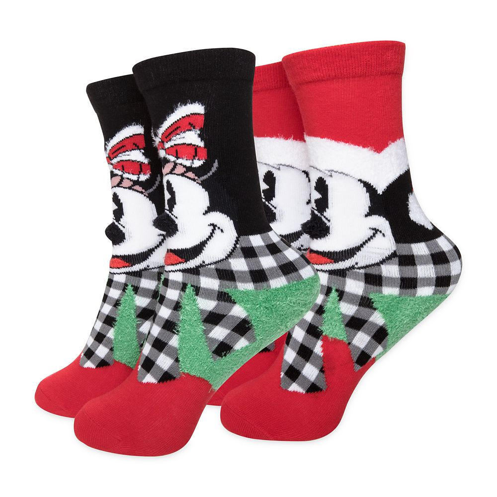 Mickey and Minnie Mouse Holiday Sock Set for Kids