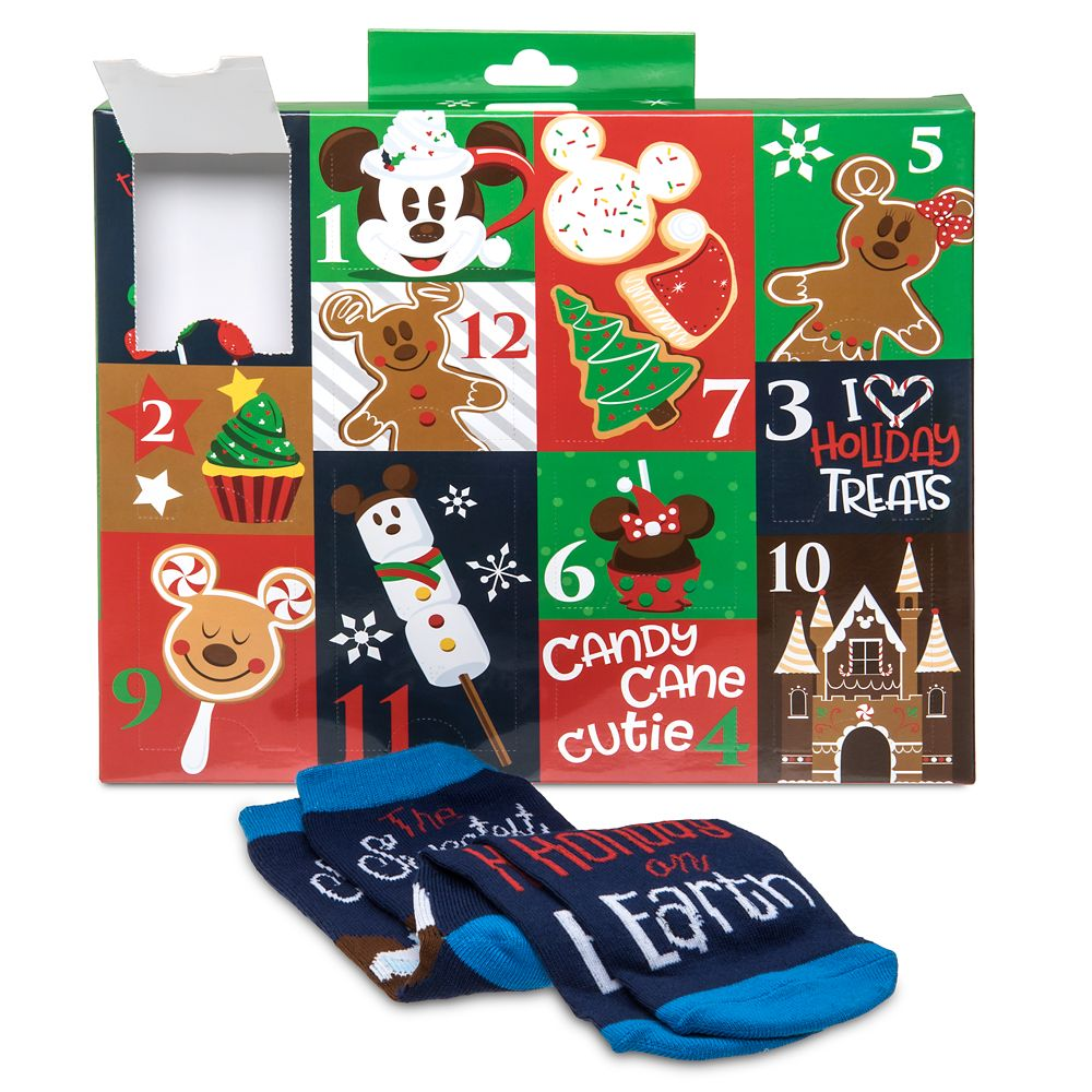Disney Parks Holiday Food Advent Sock Set for Adults
