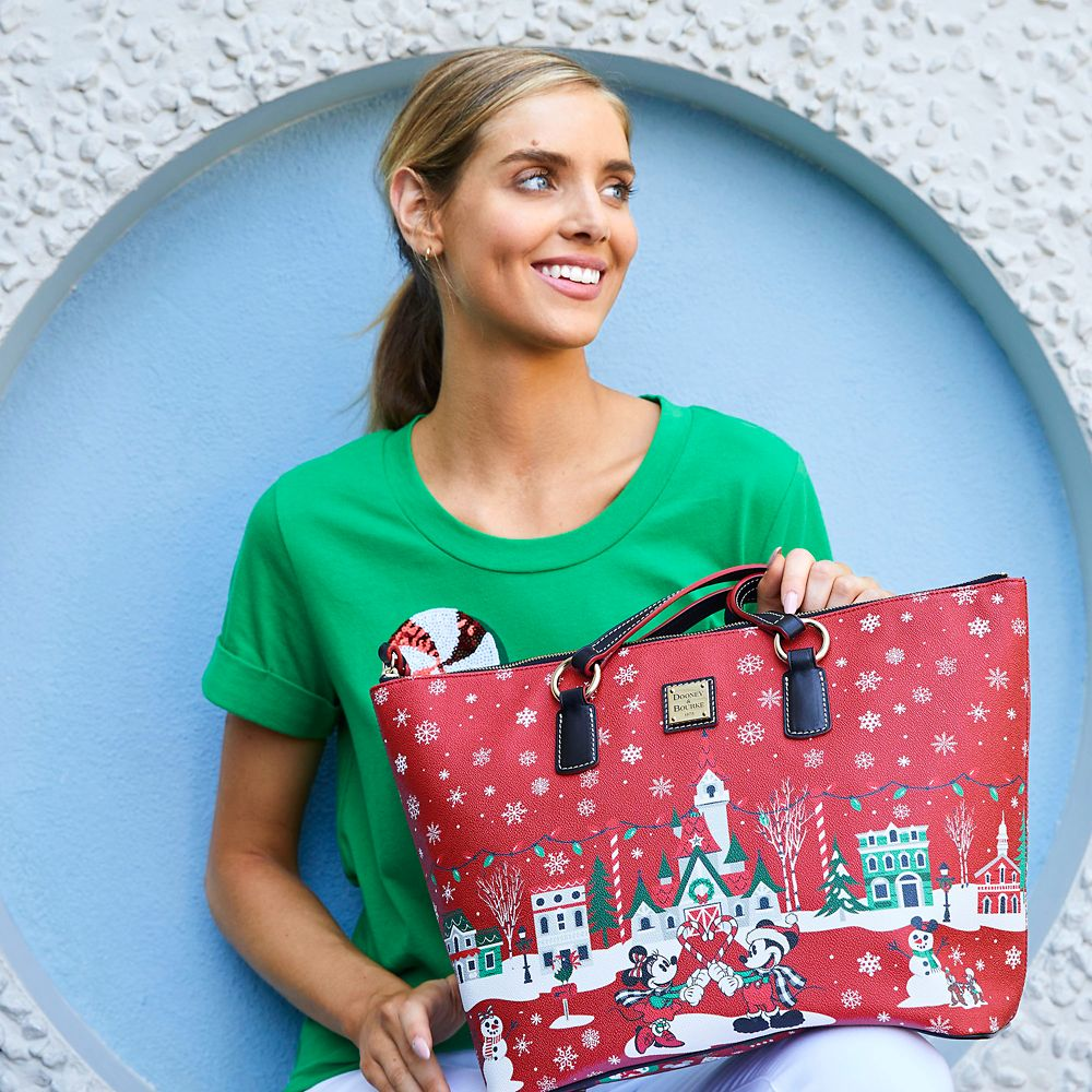 Mickey Mouse and Friends Holiday Tote by Dooney & Bourke