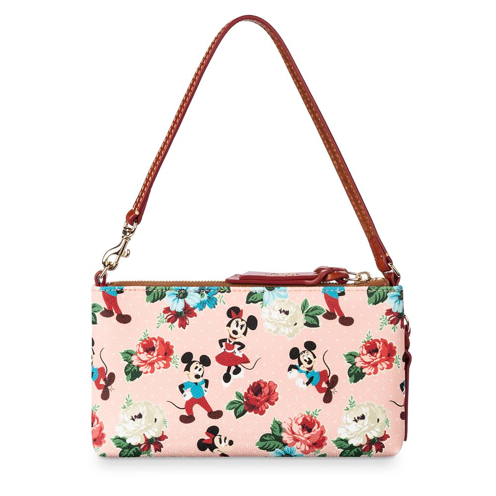 Mickey and Minnie Mouse Floral Pouch by Dooney & Bourke