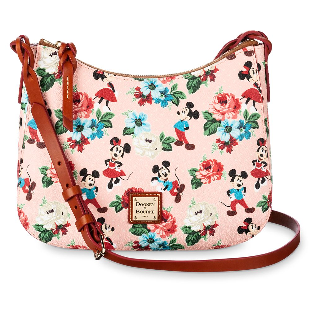 Mickey and Minnie Mouse Floral Crossbody Bag by Dooney & Bourke Official shopDisney